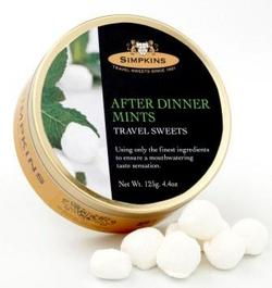 Simpkins Travel Sweets - After Dinner Mints 125g Tin