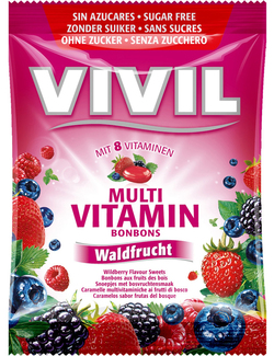 VIVIL Sugar Free Wild Berry Flavour Multi Vitamin Sweets 60g