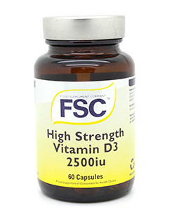 FSC Vitamin D3 High Strength 2500iu - 60 Capsules