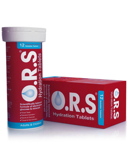 O.R.S Hydration Tablets Strawberry Flavour 12 Tablets SHORT DATED