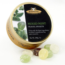 Simpkins Travel Sweets - Mixed Mint 200g Tin