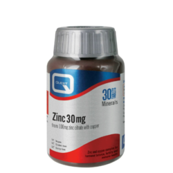 Quest Zinc Citrate 30mg with Copper 30 Tablets SHORT DATED