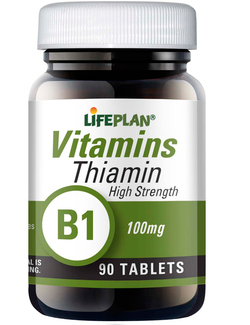 Lifeplan Thiamin Vitamin B1 100mg - 90 Tablets