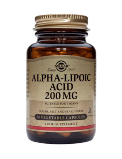 Solgar Alpha Lipoic Acid 200mg - 50 Veg. Caps