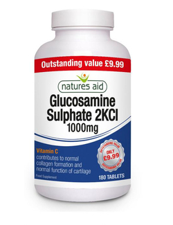 Natures Aid Glucosamine Sulphate 1000mg 2KCl 180 Tablets