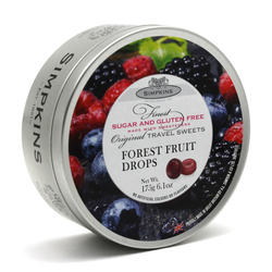 Simpkins Sugar Free Forest Fruit Travel Sweets 175g Tin