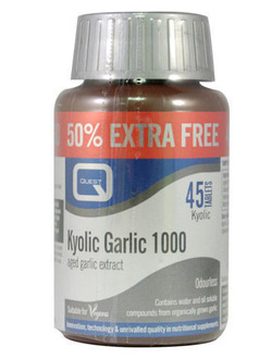 Quest Kyolic Odourless Garlic 1000mg 45 Tablets