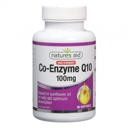 Natures Aid Co-Enzyme Q10 100mg 90 Capsules