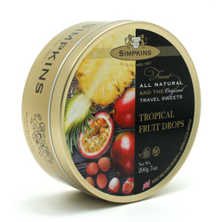 Simpkins Travel Sweets -Tropical Fruit 200g Tin