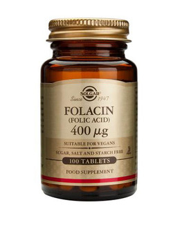 Solgar Folic Acid 400mcg 100 Tablets