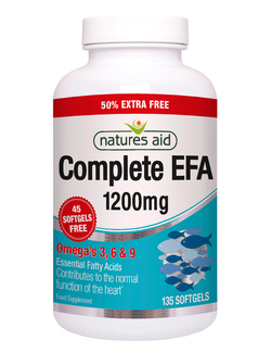Natures Aid Complete EFA 135 Capsules EXTRA VALUE PACK