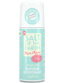 Salt of the Earth Pure Aura Melon & Cucumber Natural Deodorant Roll-On 75ml