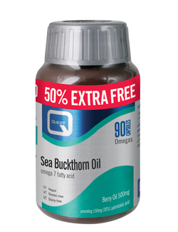 Quest Sea Buckthorn Oil Omega 7 - 90 Capsules EXTRA VALUE PACK