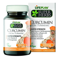 Lifeplan Super Herbs Curcumin from Turmeric 500mg 60 Capsules