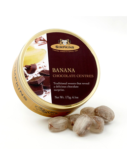 Simpkins Travel Sweets - Chocolate Centred Banana 175g