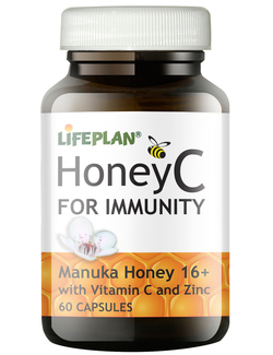 Lifeplan Honey C for Immunity 60 Capsules