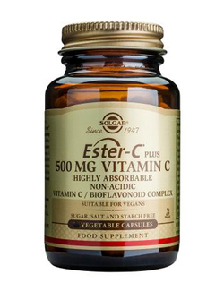 SOLGAR Ester-C Plus 500mg - 100 Vegicaps