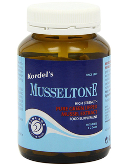 Kordels Musseltone Green Lipped Mussel Extract 500mg 90 Tabs