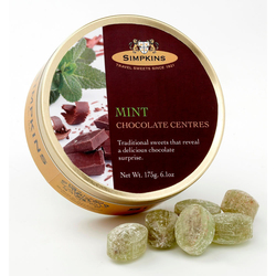 Simpkins Travel Sweets - Chocolate Centred Mint 175g
