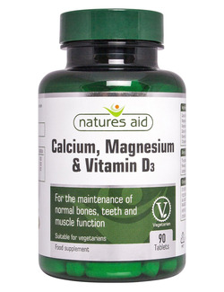 Natures Aid Calcium Magnesium & Vitamin D3 - 90 Tablets