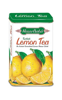 Hazer Baba Turkish Lemon Tea 250g Tin SHORT DATED