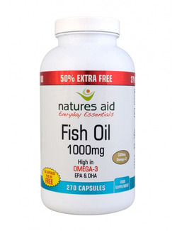 NATURES AID Fish Oil 1000mg 270 Capsules
