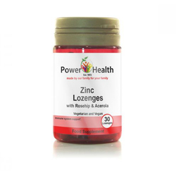 Power Health Zinc Lozenges with Rosehip & Acerola 30 Lozenges