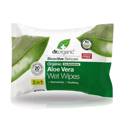 Dr Organic Aloe Vera Wet Wipes 20 Wipes