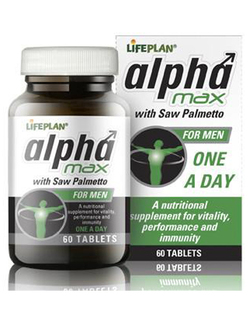 Lifeplan Alpha Max with Saw Palmetto for Men 60 Tablets