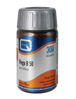 QUEST Mega B 50  Vitamin B Comp. 30 Tabs