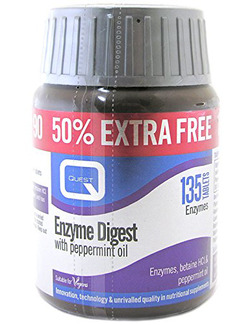 Quest Enzyme Digest with Betaine HCL & Peppermint Oil 135 Tablets
