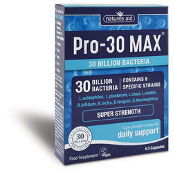 Natures Aid PRO-30 Max Super Strength Probiotic 60 Capsules