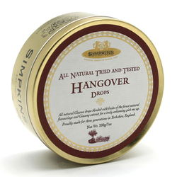 Simpkins Classic Hangover Drops Travel Sweets 200g Tin