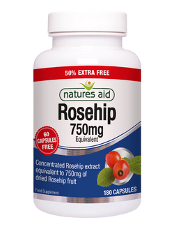 Natures Aid Rosehip 750mg - 180 Caps EXTRA VALUE PACK
