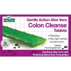 Aloe Pura Colon Cleanse GENTLE Action Tablets 60 Tabs
