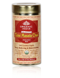 ORGANIC INDIA Original Tulsi Masala Chai Tea 100g Tin