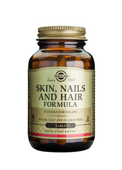 SOLGAR Skin, Nails & Hair Formula 120 Tablets SHORT DATED