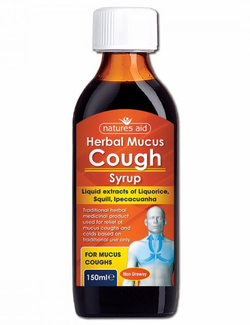 Natures Aid Herbal Mucus Cough Syrup 150ml