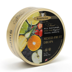 Simpkins Travel Sweets - Mixed Fruit 200g Tin
