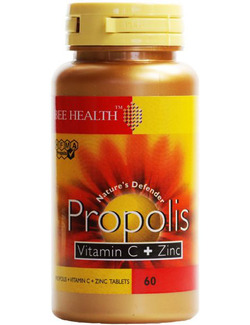 Bee Health Propolis Vitamin C & Zinc 60 Tabs SHORT DATED