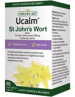 Natures Aid Ucalm St Johns Wort 300mg - 60 Tablets