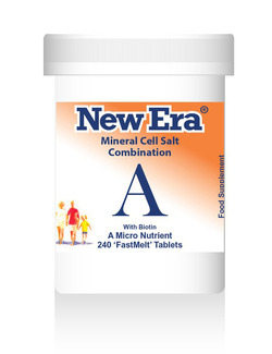 New Era Combination A Mineral Cell Salts 240 Tablets