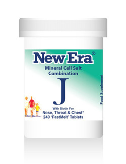 New Era Combination J Mineral Cell Salts 240 Tablets