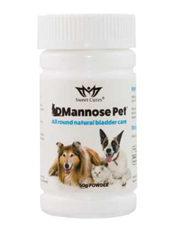 Sweet Cures DMannose PET 50g D-Mannose Powder FOR PETS