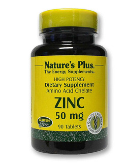Natures Plus Zinc 50mg - 90 Tablets (Amino Acid Chelate)
