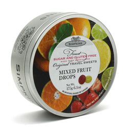 Simpkins Sugar Free Mixed Fruit Travel Sweets 175g Tin