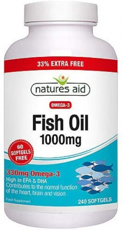 NATURES AID Fish Oil 1000mg 240 Softgels Extra Value Pack