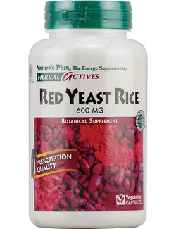 Natures Plus Red Yeast Rice 600mg 60 Veg.Capsules SHORT DATED