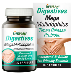 Lifeplan Mega Multidophilus Timed Release 30 Billion 30 Caps