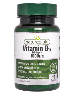 Natures Aid Vitamin B12 1000ug Sublinqual - 90 Tablets